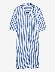 Ganni - Stripe Cotton - sommerkjoler - daphne - 0