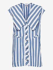 Ganni - Stripe Cotton - Ærmeløse bluser - daphne - 0