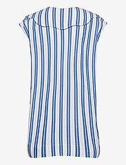 Ganni - Stripe Cotton - Ærmeløse bluser - daphne - 1