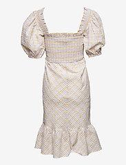 Ganni - Seersucker check - midi dresses - multicolour - 1