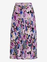 Ganni - Pleated Georgette - midi skirts - multicolour - 0