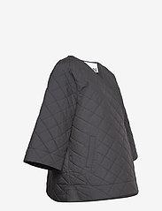 Ganni - Stretch Canvas - quiltede jakker - phantom - 3