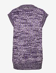 Ganni - Hand Knit Wool - veste - deep lavender - 1