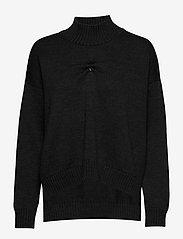 Ganni - Wool Knit - turtlenecks - phantom - 0