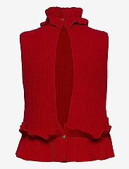 Ganni - Rib Knit - strikveste - flame scarlet - 1