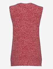 Ganni - Cashmere Mix Knit - strikveste - flame scarlet - 1