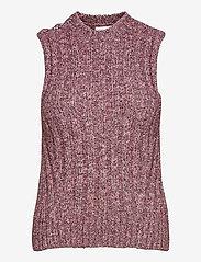 Ganni - Chunky Glitter Knit - strikveste - pink nectar - 0