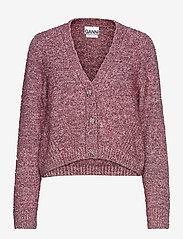 Ganni - Chunky Glitter Knit - cardigans - pink nectar - 0