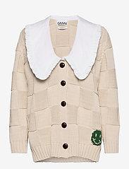 Ganni - Cotton Rope Knit - cardigans - brazilian sand - 0
