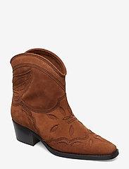 Ganni - Low Texas - wysoki obcas - tapioca - 0
