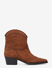 Ganni - Low Texas - wysoki obcas - tapioca - 1