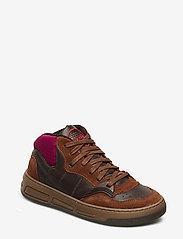Ganni - Retro Basket - sneakersy niskie - chicory coffee - 0