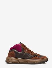Ganni - Retro Basket - sneakersy niskie - chicory coffee - 1