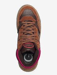 Ganni - Retro Basket - sneakersy niskie - chicory coffee - 3