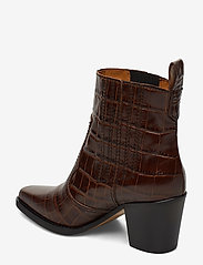 Ganni - Western Ankle Boots - wysoki obcas - chicory coffee - 2