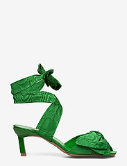 Ganni - Heeled Bow Sandals - sandały na obcasie - island green - 1