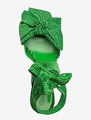 Ganni - Heeled Bow Sandals - sandały na obcasie - island green - 3