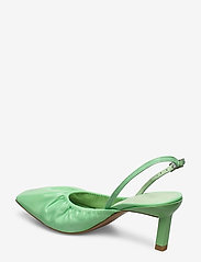 Ganni - Ruffled Pumps - sling backs - patina green - 2