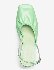 Ganni - Ruffled Pumps - sling backs - patina green - 3