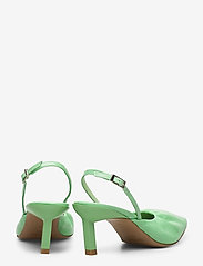 Ganni - Ruffled Pumps - sling backs - patina green - 4