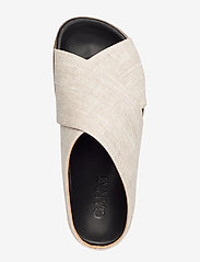Ganni - Flat Sandals - płaskie sandały - nature - 3