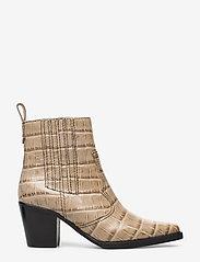 Ganni - Western Ankle Boots - wysoki obcas - tapioca - 1