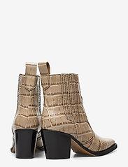 Ganni - Western Ankle Boots - wysoki obcas - tapioca - 4