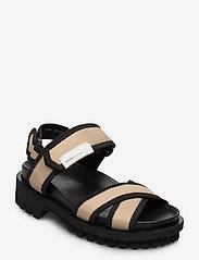 Ganni - Hiking Sandals - płaskie sandały - ermine - 0