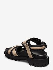 Ganni - Hiking Sandals - płaskie sandały - ermine - 2