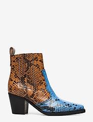 Ganni - Western Ankle Boots - wysoki obcas - brunnera blue - 1