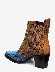 Ganni - Western Ankle Boots - wysoki obcas - brunnera blue - 2