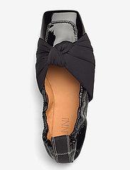 Ganni - Ballerina Soft Patent - ballerinaer - black - 3