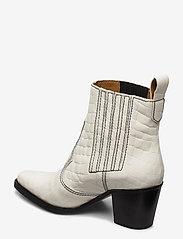 Ganni - Western Boot Belly Croc - wysoki obcas - egret - 2
