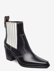 Ganni - Western Boot Polido - wysoki obcas - black - 0