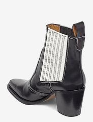 Ganni - Western Boot Polido - wysoki obcas - black - 2