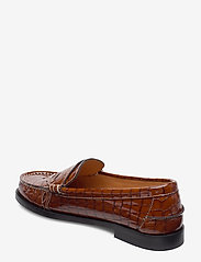 Ganni - Moccasin Belly Croc - loafers - toffee - 2