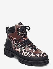Ganni - Sporty Boot - platte enkellaarsjes - leopard - 0