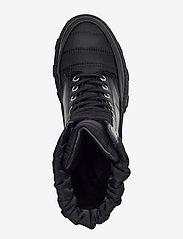 Ganni - Brush Off & Nylon - platte enkellaarsjes - black - 3