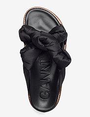Ganni - Recycled Satin - flade sandaler - black - 3