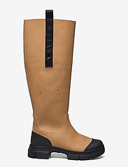 Ganni - Recycled Rubber - long boots - chipmunk - 1