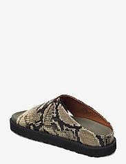Ganni - Embossed Snake - flade sandaler - kalamata - 2