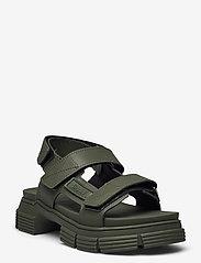 Ganni - Recycled Rubber - płaskie sandały - kalamata - 1