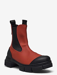 Ganni - Recycled Rubber - buty - madder brown - 0