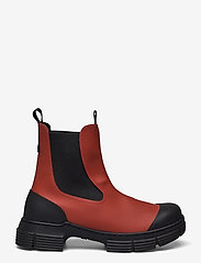 Ganni - Recycled Rubber - buty - madder brown - 1