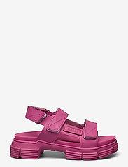 Ganni - Recycled Rubber - płaskie sandały - shocking pink - 1
