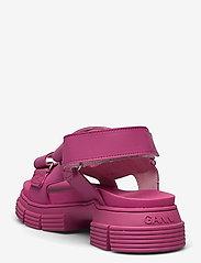 Ganni - Recycled Rubber - płaskie sandały - shocking pink - 2