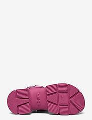 Ganni - Recycled Rubber - płaskie sandały - shocking pink - 4