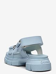 Ganni - Recycled Rubber - płaskie sandały - corydalis blue - 2