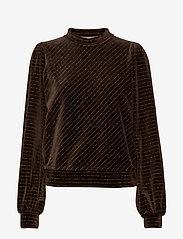 Ganni - Velvet Lurex - sweatshirts - mole - 0