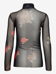 Ganni - Rollneck - long sleeved blouses - black - 1